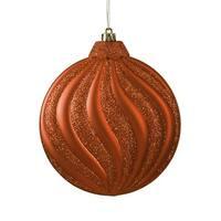 6.25 in. Matte Burnt Orange Swirl Shatterproof Christmas Disc