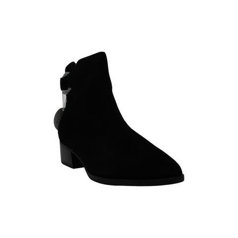 Steve Madden Women's Shoes Ringer Leather Closed Toe Ankle Fashion Boots