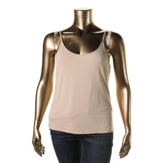 Eileen Fisher Womens Adjustable Straps Solid Cami