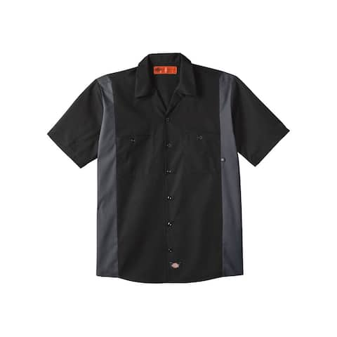 Industrial Colorblocked Short Sleeve Shirt - Long Sizes