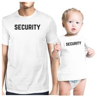 Security White Infant Tee Shirt Dad Baby Girl Matching Clothes Gift