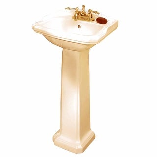 Traditional Pedestal Sink Biscuit China Cloakroom Centerset Renovator's Supply