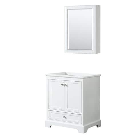Deborah 30-inch Single Vanity Cabinet, Medicine Cabinet