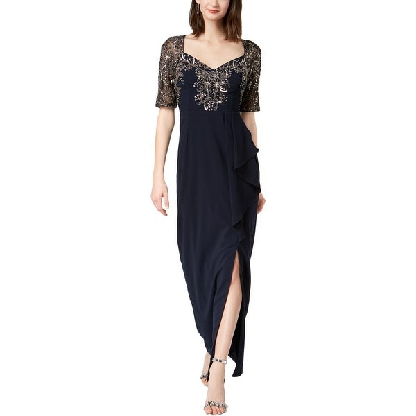 Adrianna Papell Womens Evening Dress Embellished Special Occasion