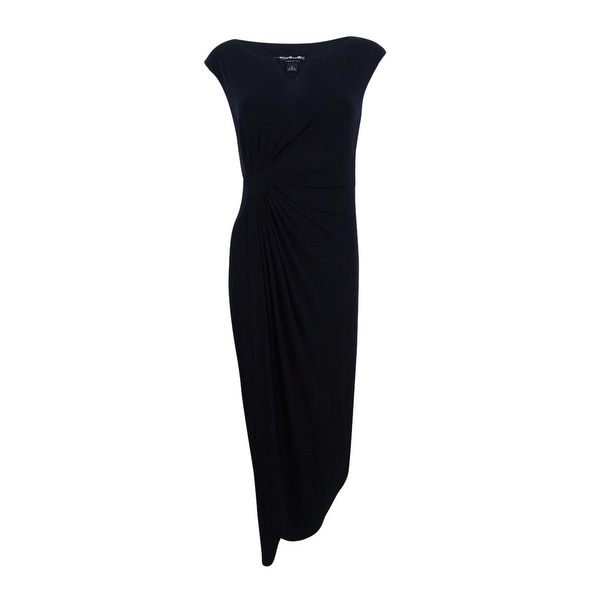 Connected Women's Embellished Faux-Wrap Gown