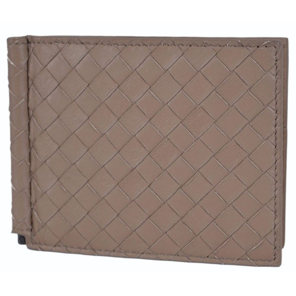 ca7199a2e48 Shop Bottega Veneta Men s 390877 Woven Leather Bifold Wallet with Bill  Clamp - On Sale - Free Shipping Today - Overstock - 12147368