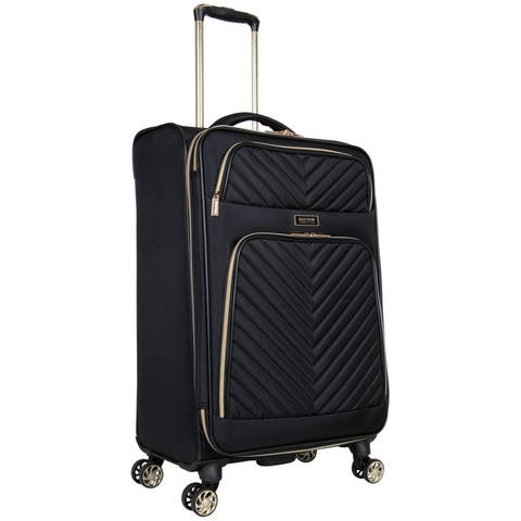 Kenneth Cole Reaction 'Chelsea' 24-Inch Chevron Quilted Expandable 8-Wheel Spinner Checked Suitcase