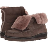 Trask Womens Shannon - taupe metallic sheepskin/shearling - 6
