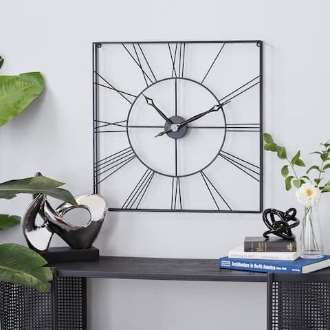 Iron Industrial Wall Clock 24 x 24 x 2 - 24 x 2 x 24