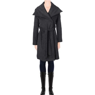 T Tahari Womens Mia Coat Wool Oversized