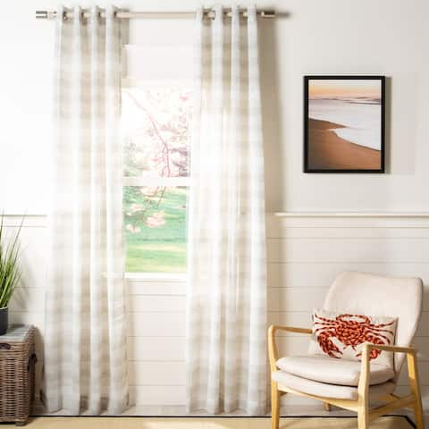 SAFAVIEH Liberty Semi-Sheer Window Curtain Panel