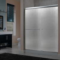 """Miseno MSDR6072 72"""" High x 58-60"""" Wide Sliding Framed Shower Door with 1/4"""" Pattern Glass - N/A"""