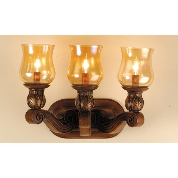 "Meyda Tiffany 71475 3-Light 24"" Wide Bathroom Fixture from the Kendall Collection - portsmouth cherry"