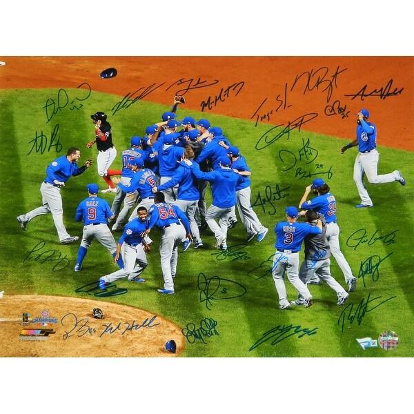 super popular 3c65b d57c3 2016 Chicago Cubs Team Chicago Cubs 2016 World Series Celebration 16x20  Photo 26 Sigs