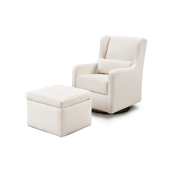 Carter's by Davinci Adrian Swivel Glider with Storage Ottoman. Opens flyout.