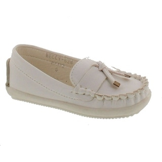 Via Pinky Beccy-62B Children Girl Comfort Slide On Moccasin Top Flat Loafers