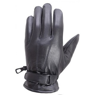 Unisex Soft Lambskin Leather Winter, Driving, Dress Fashion Gloves Black FG5