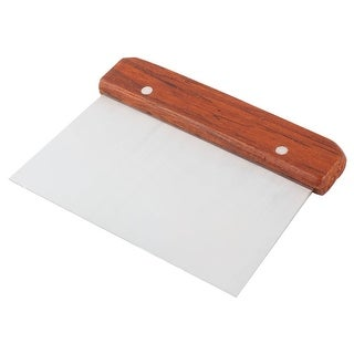 Link to Restaurant Wood Handle Metal  Pizza Cake Dough Scraper Cutter - Brown,Silver Similar Items in Cooking Essentials