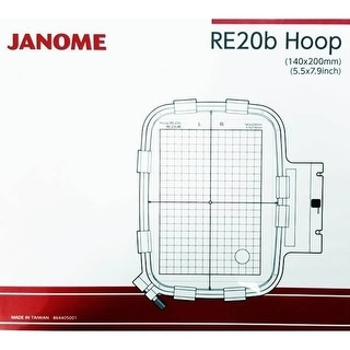 "Janome RE20B 5.5"" x 7.9"" Embroidery Hoop fits MC500E and MC400E - 1"" x 1"" x 1"""