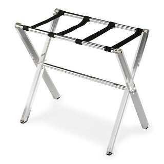 Offex Mesh Weaving Straps Crystal Clear Acrylic Luggage Rack