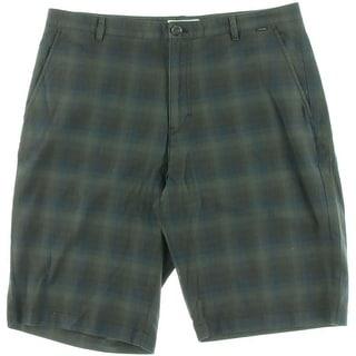 Calvin Klein Mens Plaid Flap Pocket Casual Shorts - 38