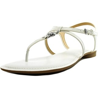 Michael Kors Bethany Womens White Patent Gladiator Sandal