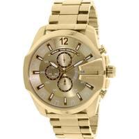 Diesel Men's  Gold Stainless-Steel Quartz Fashion Watch