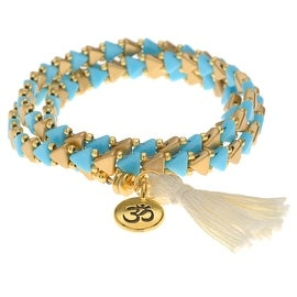 Kheops Wrapped Tassel Bracelet Gold Om - Exclusive Beadaholique Jewelry Kit