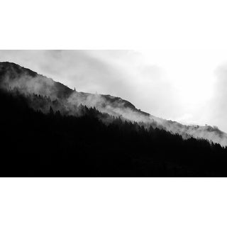 Black And White Mountain Photograph Wall Art Canvas