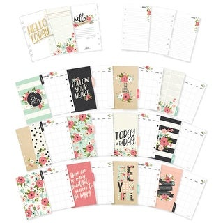 Carpe Diem Bloom Double-Sided Personal Planner Inserts-Month - monthly, undated