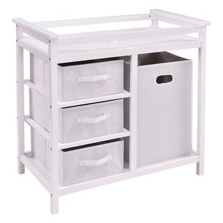 Costway White Infant Baby Changing Table w/3 Basket Hamper Diaper Storage Nursery|https://ak1.ostkcdn.com/images/products/is/images/direct/3daa15d9684c991534e4491b50d5de8dd4f6c2cd/Costway-White-Infant-Baby-Changing-Table-w-3-Basket-Hamper-Diaper-Storage-Nursery.jpg?_ostk_perf_=percv&impolicy=medium