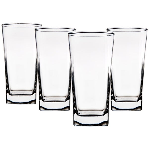 Palais Glassware Carre Collection; High Quality Glassware Set - Square Shaped