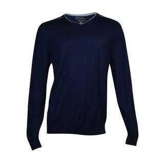 INC International Concepts Men's Merino Wool-Blend Sweater (Basic Navy, XL) - basic navy|https://ak1.ostkcdn.com/images/products/is/images/direct/3daa9954a9985847847818231ecae6936197a23c/INC-International-Concepts-Men%27s-Merino-Wool-Blend-Sweater-%28Basic-Navy%2C-XL%29.jpg?impolicy=medium