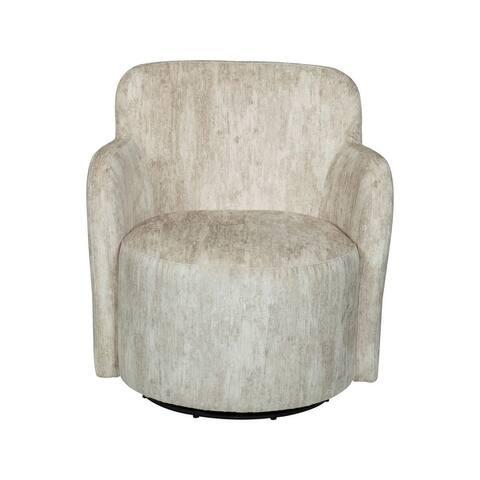 Ela Upholstered Swivel Armchair