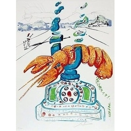 Cybernetic Lobster Telephone, Limited Edition, Lithograph, Salvador Dali