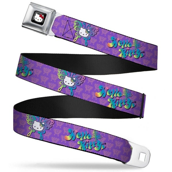 Hello Kitty W Red Bow Full Color Black Hello Kitty Butterfly Purple Pink Seatbelt Belt