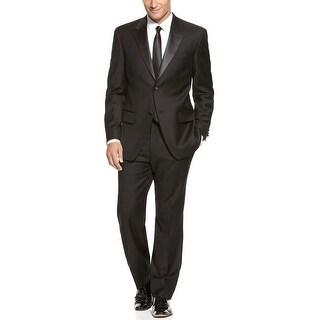 Alfani Black Label Wool and Cashmere Black Tuxedo 42 Regular 42R Pants 36W