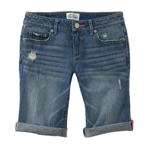 Aeropostale Womens Distressed Bermuda Jean Casual Denim Shorts