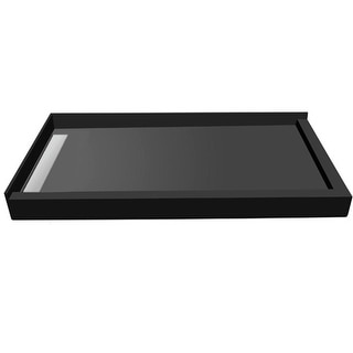 "Tile Redi WF3648LDR-PVC  Wonderfall 48"" X 36"" Corner Shower Pan with Double Threshold and 2"" Left-Side Drain - Tileable Drain"