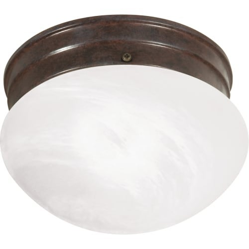 "Nuvo Lighting 60/2632 Single Light 7.5"" Wide Flush Mount Ceiling Fixture with Alabaster Mushroom Glass Shade"