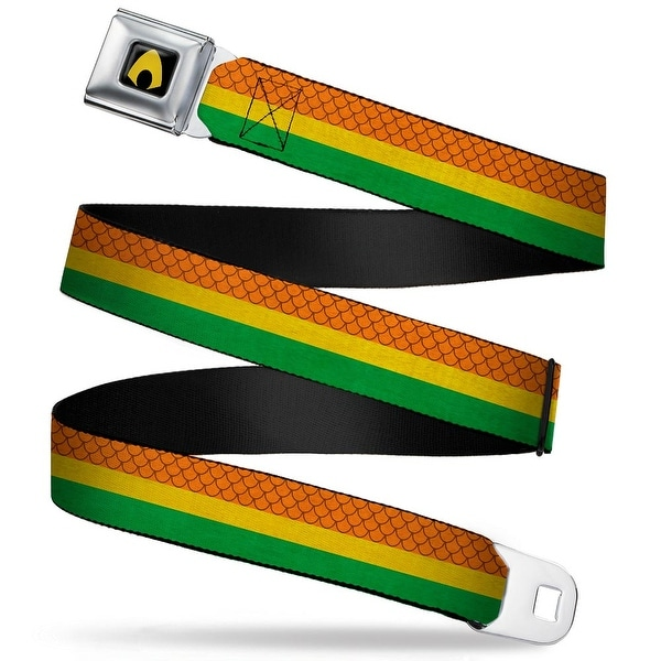 Aquaman Logo Full Color Black Yellow Aquaman Rasta Webbing Seatbelt Belt Seatbelt Belt