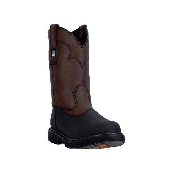 """McRae Industrial Work Boots Mens 11"""" Waterproof Pull On Brown"""