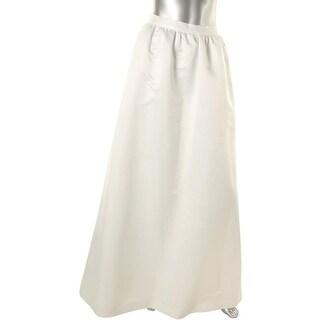Parker Womens Satin High Waist A-Line Skirt