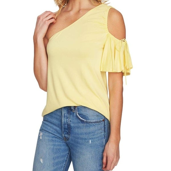 0432b8e5375 State Yellow Women Size Medium M Cold Shoulder Flutter Sleeve Top - Free  Shipping On Orders Over  45 - Overstock - 27491491