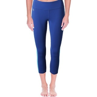 L-RL Lauren Active Womens Athletic Leggings Colorblocked Cropped (2 options available)