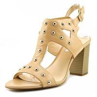 INC International Concepts Kieraa 2 Women  Open Toe Leather Nude Sandals