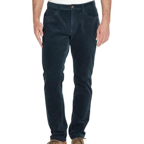 Weatherproof Mens Pants Blue Size 42x30 Straight Corduory Stretch