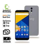 "GSM Unlocked 4G LTE 5.6"" SmartPhone by Indigi® (QuadCore Processor @ 1.2GHz + Android 6 + Fingerprint Scanner ) Black"