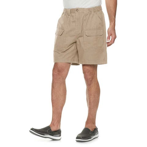 "Croft & Barrow Side Elastic 7.5"" Classic Fit Cotton Cargo Shorts"