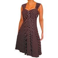 Funfash Women Empire Waist Black White Dress Size 7 9 11 Made in USA